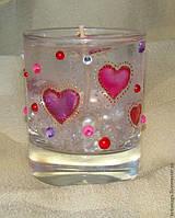 Набор для гелевой свечи с сердечками