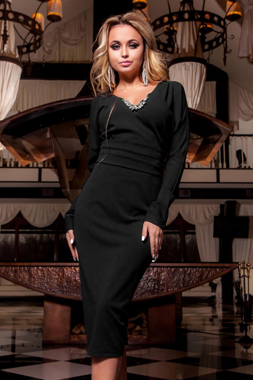 6246832f8c7 Сексуальное Вечернее Платье с Шикарным Декольте и Вырезом на Спине Черное  р.S - Ukraine