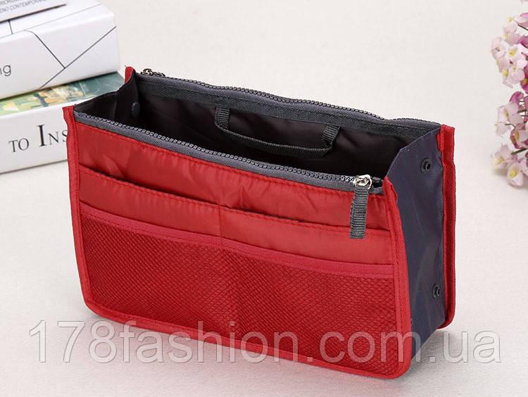 Органайзер в женскую сумку, спасатель сумки от хаоса, красный