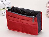 Органайзер в женскую сумку, спасатель сумки от хаоса, красный, фото 1