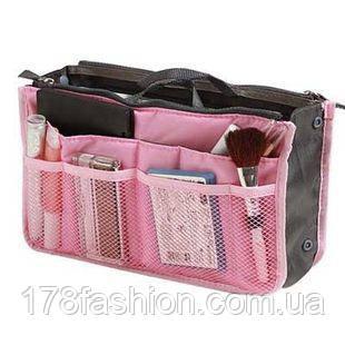 Органайзер в женскую сумку, спасатель сумки от хаоса, розовый