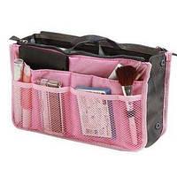 Органайзер в женскую сумку, спасатель сумки от хаоса, розовый, фото 1