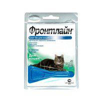 Капли от блох и клещей для котов Frontline Spot-on Merial (Фронтлайн Спот-он Мериал)