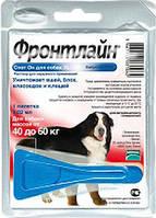Капли от блох и клещей для собак Frontline Spot-on Merial (Фронтлайн Спот-он Мериал) 40-60 кг (XL)