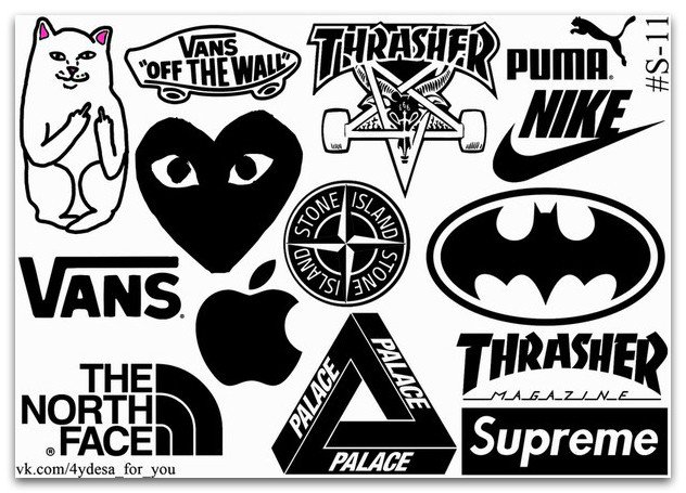 Stickers Pack Логотипы #11