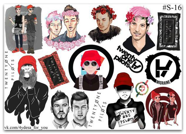 Stickers Pack Twenty One Pilots #16
