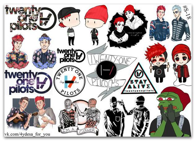 Stickers Pack Twenty One Pilots #18