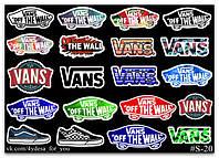 Stickers Pack Vans #20, фото 1
