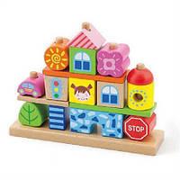 """Набор кубиков Viga Toys """"Город"""" , набор деревянных кубиков"""