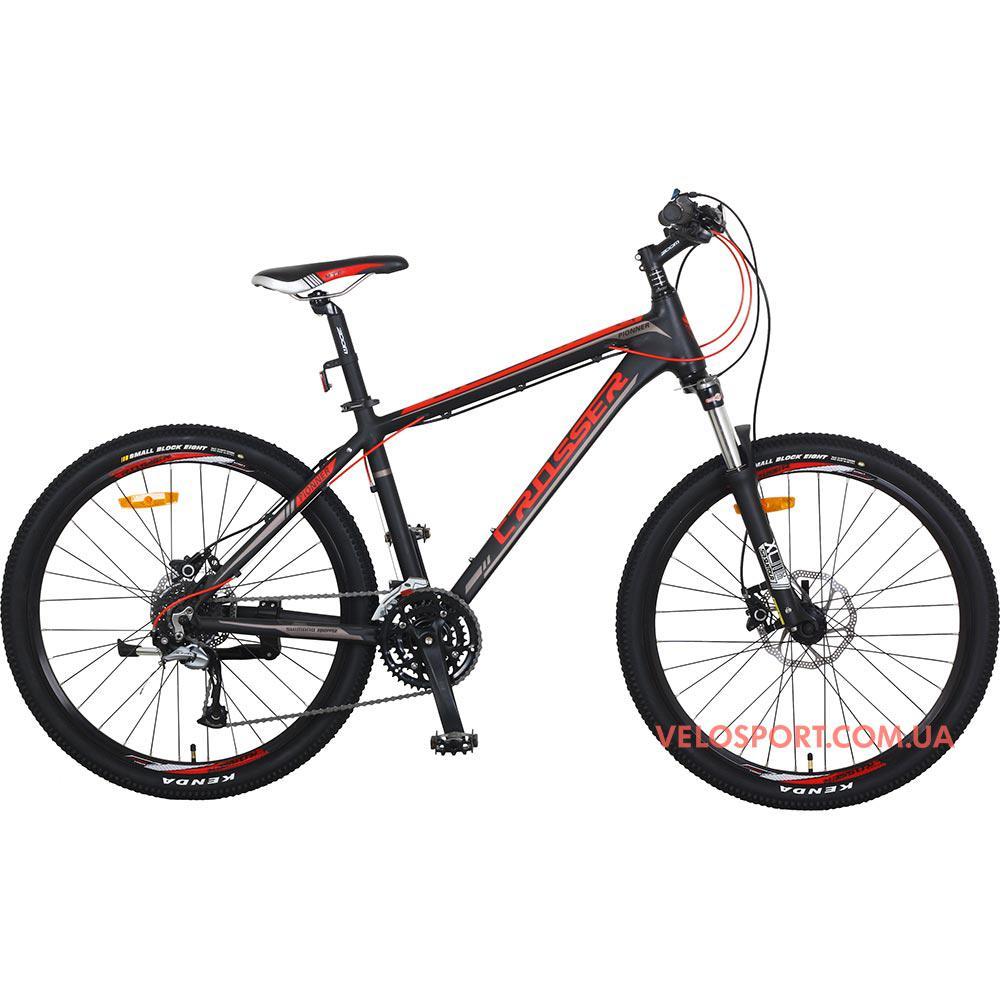 Горный велосипед Crosser Pionner 26 дюймов черно-красный