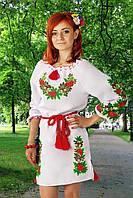 """Вышитое женское платье """"Дубок""""( с длинным рукавчиком )"""
