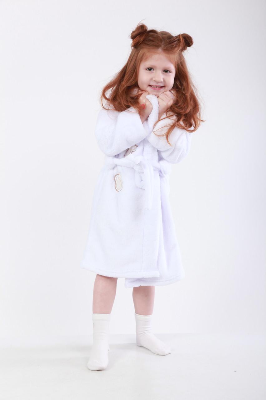 Халат белый банный для девочек