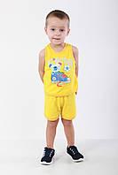 Комплект однотонный детский борцовка и шорты с рисунком
