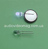 Светодиод 3V 5 мм, прозрачный, ультрафиолетовый