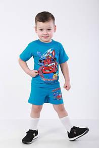 Дитячий літній комплект для хлопчика  Тачки кулір
