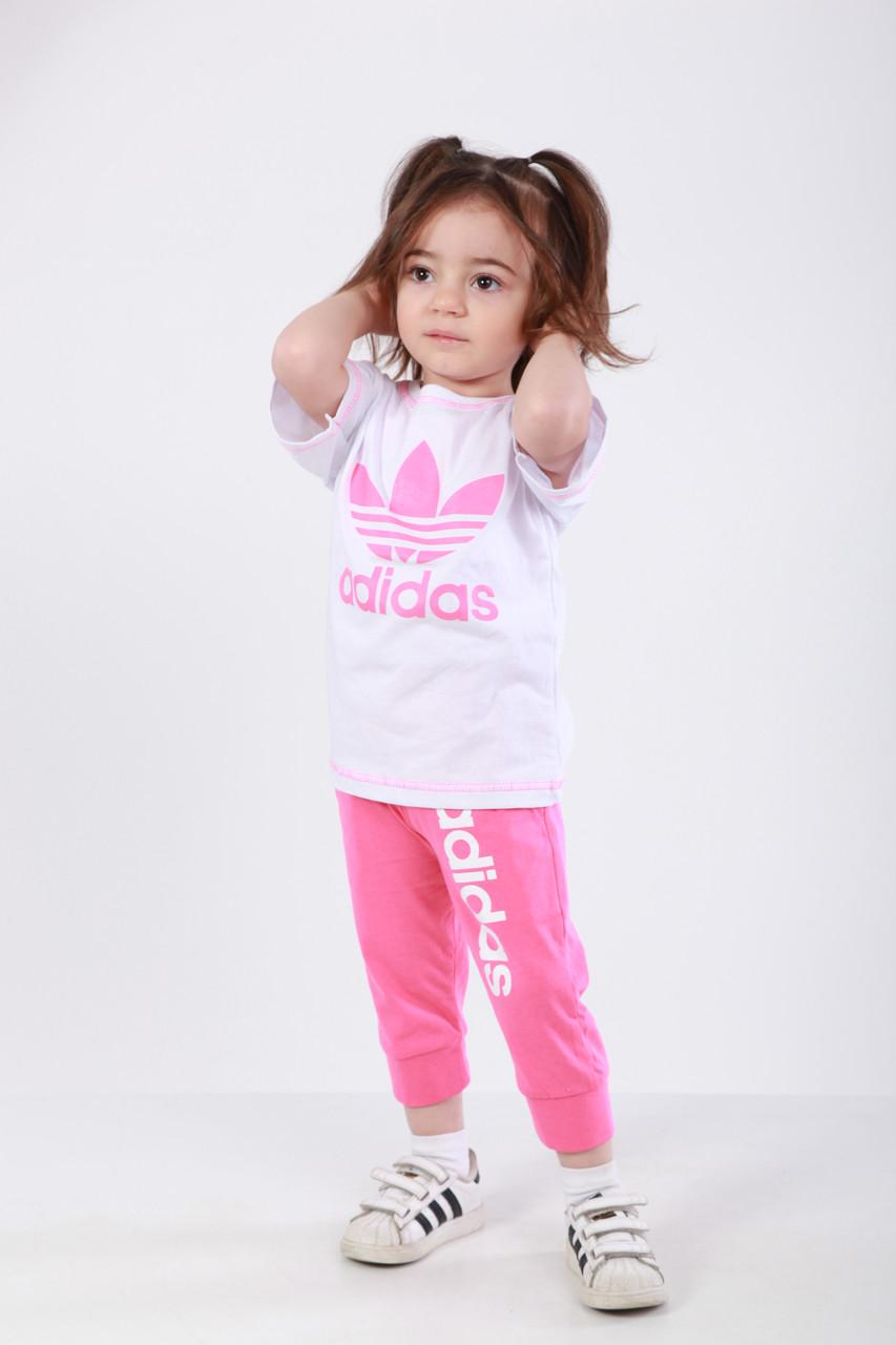Комплект Спорт детский футболка и бриджи в стиле Адидас