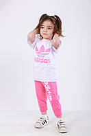 Комплект Спорт детский футболка и бриджи в стиле Адидас , фото 1