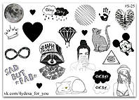 Stickers Pack Black&White #25
