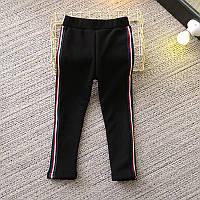 Тёплые стильные брюки для девочки Полоски