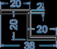 Алюминиевый Z-профиль 20x20x20x2