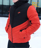 Зимняя мужская куртка Nike Angle black-red