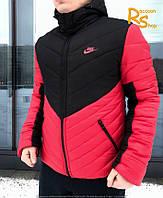 Зимняя мужская куртка Nike Angle bright-red-black