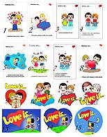 """Картинки на водорастворимой бумаге для мыла """"Love is...""""("""
