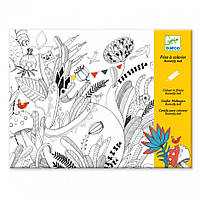 Художественный комплект для рисования разукрашка Бал бабочек Djeco (DJ09645)