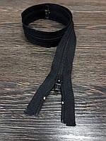 Молния одежная №5 спираль черная 55см