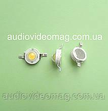 Светодиод мощный 3V 3Wt, цвет - белый теплый  (3000-3200К)