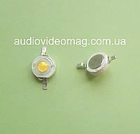 Светодиод мощный 3V 1Wt, цвет - белый теплый  (3000-3200К)