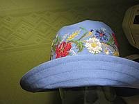Шляпа вышиванка под джинсы, по мотивам старинной вышивки(вышивка крестиком)