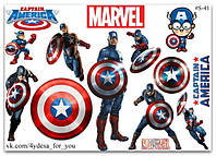 Stickers Pack Marvel Captain America, Капитан Америка #41