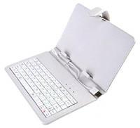 "Чехол клавиатура для ПК планшета 7""  White Rus Mini и Micro Usb"