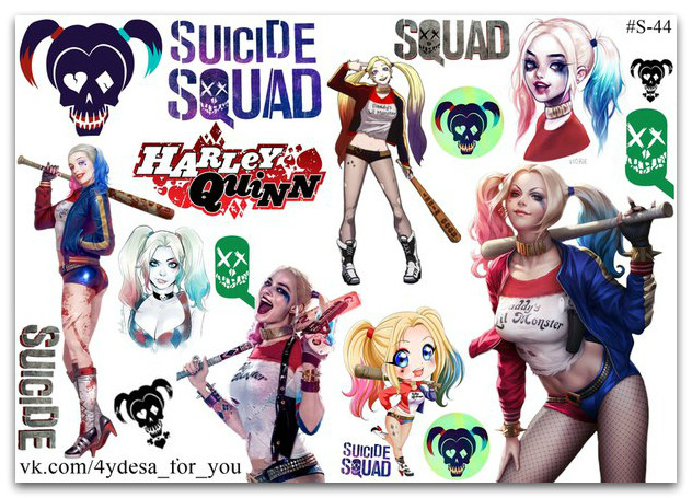 Stickers Pack Harley Quinn, Харли Квинн #44
