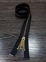 Молния одежная черная №5 металл 58см.