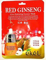 Корейская тканевая маска с экстрактом красного женьшеня Ekel Red Ginseng Ultra Hydrating Essense Mask