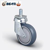Колесо поворотное шпилька М12 на термопластичной резине 100мм
