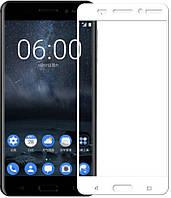 Защитное стекло для Nokia 6 цветное Full Screen