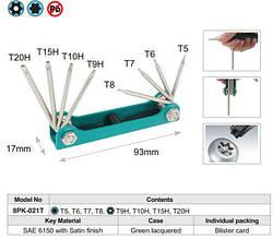 Набор ключей Pro'sKit 8PK-021T