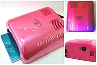 Ультрафиолетовая лампа для наращивания ногтей Global (розовая) 36 ватт