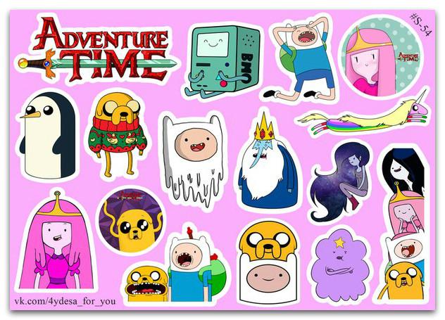 Stickers Pack Adventure Time, Время Приключений #54
