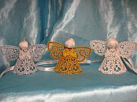 Ангел, ангелочек, три ангелочка: белый, золотой, серебряный