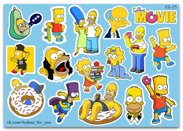 Stickers Pack Simpsons, Симпсоны #55
