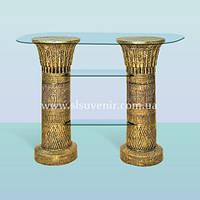 Журнальный стеклянный стол, высокий кофейный столик Полка египетская