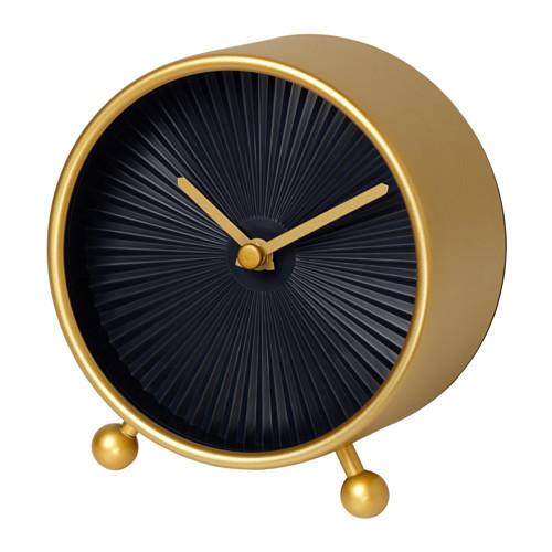 """ИКЕА """"СНОФСА"""" Настольные часы, желтая медь"""