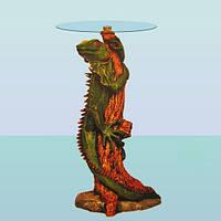 Журнальный стеклянный стол, кофейный столик со стеклом Игуана (А)