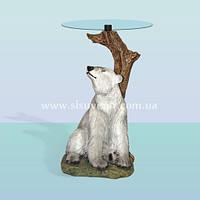 Журнальный стеклянный кофейный столик для дома Медведь (А)