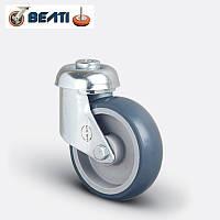 Колесо поворотное под болт на термопластичной резине 125мм