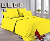 Однотонное постельное белье желтое P-0643